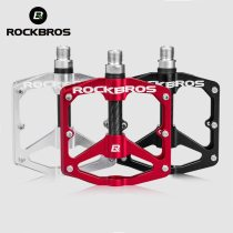 ROCKBROS MTB Bike Bicycle Pedals Sealed DU Bearing Aluminum Alloy Cycling Pedals Hollow Ultralight Non-slip Cleat Bike Part Flat