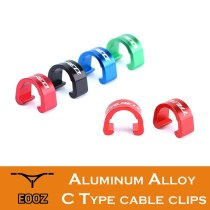 1PCS / 100pcs Aluminum Alloy Bicycle C Type Buckle For MTB Road Bike Disc Brake Cable Frame Organizer Line Pipe Clip
