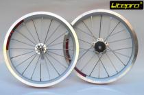 Litepro  9t  Single-Speed Bike Wheels 16inch Folding Bicycle  Wheelset Outer  Wheel Set