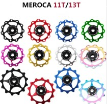 11T 13T Aluminum Alloy MTB Bicycle Rear Derailleur Pulley Jockey Wheel Bearing CNC Road Bike Guide Roller For 7/8/9/10 Speed