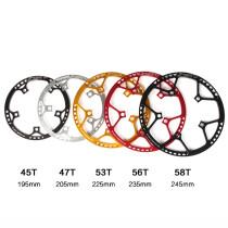Litepro Ultralight 130 BCD 45T 47T 53T 56T 58T A7075 Alloy BMX Chainring Folding Bicycle Chainwheel Bike Crankset Tooth