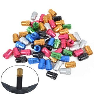 1 PCS Aluminum Alloy Bicycle Mountain Bike Road Bicycle Tire Gas Cap Multi-Color American Style Air Cap