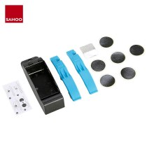 Sahoo 213090 Cycling Bicycle Bike Cycle Puncture Repair Tool Kit Tire Tyre Lever No-Glue Patch Metal Rasp