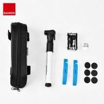 Sahoo 21046 Multifunction 14 in 1 Cycling Bike Bicycle Repair Tool Kit Set with Top Tube Bag Air Pump Tire Maintenance Tool