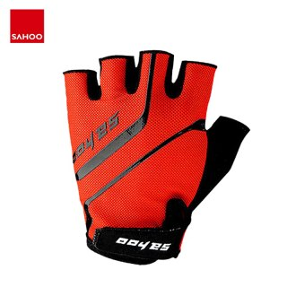 Sahoo 41914 Non-slip Half Finger Cycling Bike Bicycle Gloves Mittens Silicone Gel Padded For Gym Fitness Running Hiking Camping