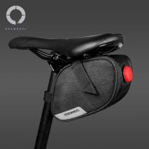 Roswheel Essentials 131463 Mountain Road Cycling Bike Bicycle Rear Seat Saddle Bag Pouch Pannier Sack with Tail Light