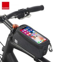 Sahoo 121460-SA Touchcreen Cycling Bike Bicycle Cell Mobile PhoneTop Tube Bag Front Frame Pack Pannier 0.8L