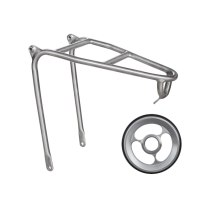 Folding bicycle   rear  rack with easy wheel of brompton titanium frame
