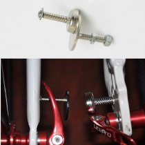 Folding Bike Front And Rear Wheel Pull In Magnet Folding Bicycle Folding Practicability Accessories