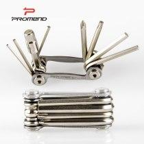 Promend GJ-F09 Tool bike tools 9 In 1 Multifunction Bicycle Repairing Set Kit Hex Spoke Cycling Screwdriver MTB Cycling Repair Tool