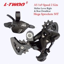 LTWOO Groupset LTWOO A5 1x9 9 Speed Groupset Trigger Shifter Lever Rear Derailleur MTB Bike Cassette 46T 50T, X9X7 Spare parts