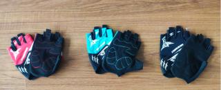 Bicycle gloves Red Bule Black Orange Anti scratch Summer Bike Half Short Cycling Finger Gloves outdoor sports glove #20