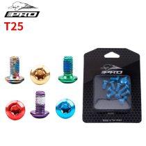 IIIPRO 12 Pcs Colorful Bicycle Disc Brake Rotor Torx Bolts T25 M5x11.5mm MTB Bike Alloy Steel Fixing Screws