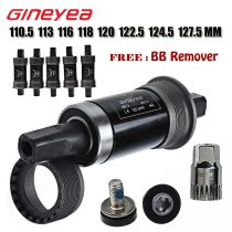 Gineyea Bike Bottom Bracket 116 118 120 122.5 127.5 mm Crank Axis Quare Hole MTB Bicycle Parts BB FOR Square Tapered Spindle C
