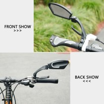 1pcs 14*14*4cm Bicycle Rearview Handlebar Mirror Adjustable Wide Angle Left Mirrors with Reflective Strips Bike Assessoires