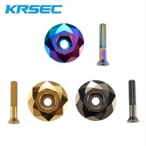 KRSEC Molybdeum Alloy Mountain Bike Stem Cap Bicycle Headset Cover MTB Front Fork Upper Cover Stem Accessories