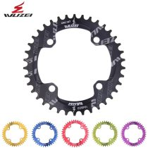 WUZEI  Bicycle Round Shape Narrow Wide Chainwheel 32T/34T/36T/38/40/42T 104BCD Chainring Bike Chainwheel Single Plate Sprocket