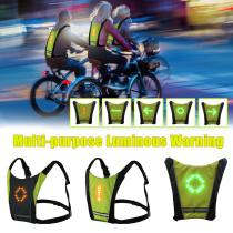New 2020 LED Wireless cycling vest MTB bike bag Safety LED Turn Signal Light Vest Bicycle Reflective Warning Vests
