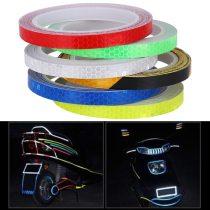 8m Wheel Reflective Sticker Rim Luminous Warning Tape Bike Reflector Fluorescent for Bike Car Motorcycle Reflective Decal Stick