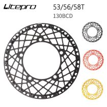 Litepro Spider Bicycle Chainring for Brompton Folding Bike MTB Road Bike Chain Wheel Crank 53/56/58T 130BCD Ultralight CNC