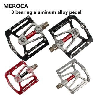 MEROCA CR MTB Mountain Bike Road Bicycle Ultralight Aluminum Alloy Pedal 3 Sealed Bearing Pedals Foot Ankles