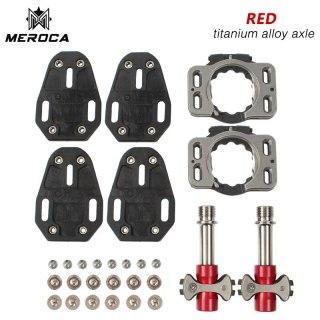 MEROCA Titanium Alloy Bearing Bicycle Pedal For Road  Self-locking 3  Bike Parts