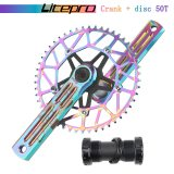 Litepro EDGE PRO bicycle crank left and right rocker arm, road folding bicycle crank and sprocket set parts BCD 130mm, BSA 170mm