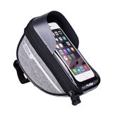B-SOUL Cycling Bicycle Bike Head Tube Handlebar Cell Mobile Phone Bag Case Holder Screen Phone Mount Bags Case For 6.5in