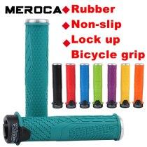 MEROCA Bike Grips Cycling Handle grip Lockable For 22.2mm MTB Road Bicycle Handlebar Grip lock Aluminum Alloy Rubber Parts