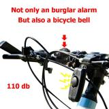 110dB USB Rechargeable Wireless Anti-Theft Vibration Motorcycle Bike Bicycle Security Lock Alarm with Remote Control Tools