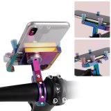 GUB PLUS 12 Bicycle Motorcycle Phone Mount Aluminum Alloy Bike Phone Holder with 360° Rotation mobile support for bicycle