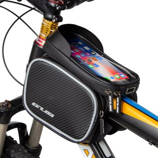 GUB 925 6.6 Inch Mobile Phones Bike Front Frame Bag Waterproof Bicycle Top Tube Cycling Touchscreen Phone Mount Case