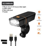 L2/T6 LED Bicycle Light USB Rechargeable Flashlight 5200mAh Mountain Bike Headlight Waterproof MTB Front Lamp with 18650 Battery
