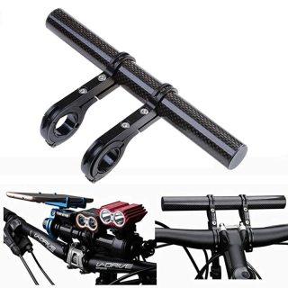 Carbon Fiber Handlebar Extender Extension Bike Light Flashlight Holder Handle Bar Bicycle Mount Bracket