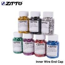 ZTTO 500pcs Inner Wire End Caps Brake Shifter Cable Tips Wire Aluminum alloy Cap Fits for Brake Shift Derailleur Crimps