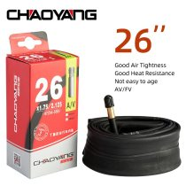 CHAOYANG Cycling Tube 26'' Inch AV FV  33MM 48MM Bicycle Inner Tire Butyl Rubber Tyre Mountain Road Bike Tubes Cycling Parts
