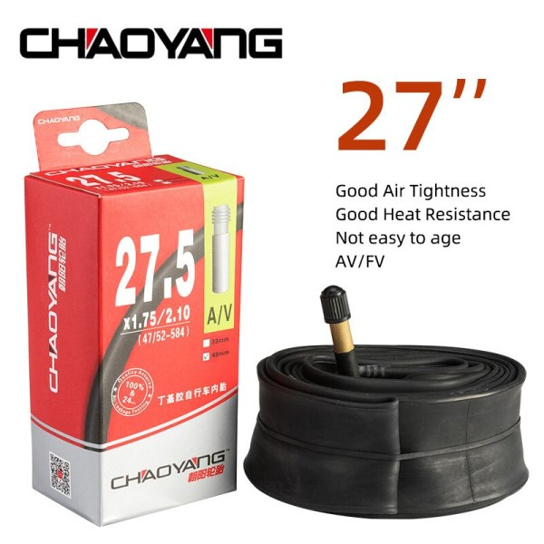CHAOYANG Bike Tube 27'' Inch AV FV  33MM 48MM Bicycle Inner Tire Butyl Rubber Tyre Mountain Road Bike Tubes Cycling Parts