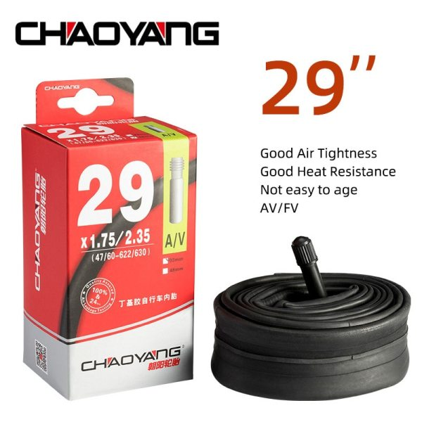 CHAOYANG Bike Tube 29'' Inch AV FV 33MM 48MM Bicycle Inner Tire Butyl Rubber Tyre Mountain Road Bike Tubes Cycling Parts