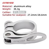 Gineyea 31.8 34.9 mm Quick Release Seatpost Clamp Aluminum Alloy  For Pipe Road MTB Bike 27.2 28.6 30.4 30.8 30.9 31.6 Seat Post