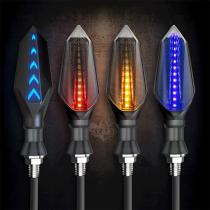 2pcs Motorcycle Directional Led Lights Turn Signal Lamp Universal Double-sided Direction Light Led High Light Electric Car Light