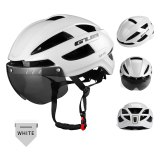 GUB Bike Helmet with Light Ultralight In-Mold PC+EPS Rechargeable Breatheable Safe Sports Helmet with Goggles Cycling Equipment