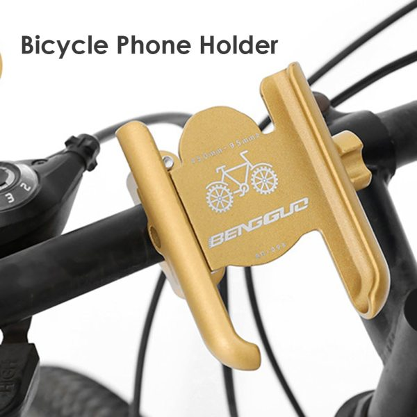 Universal Bike Cell Phone Mount Aluminum Alloy MTB Motorcycle Mobile GPS Holder Cell Mobile Phone Holder Stand