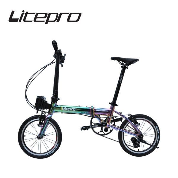 Litepro 1402 14/16Inch Folding Bike Aluminun Alloy Mini Modification Colorful External 3 5 Speed Bicycle Vehicl