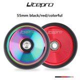 litepro 55mm easywheel ultra light for brompton easy wheel ultra light aluminum alloy auxiliary wheel 55mm
