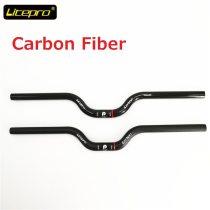Litepro Brompton Carbon Fiber Handlebar 25.4mm * 580mm Matte/Gloss Black BMX 412 Folding Bike Swallow-shaped Handlebar