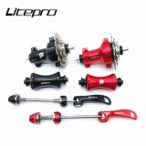 Litepro Bike Straight Pull Hub 9-13-17 Teeth Folding Bicycle 14/16Inch Universal Hubs Outer 3 Speed Front 12H Rear 16H