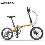 Litepro D1609 Folding Bike Hydraulic Disc Brake Chromium Molybdenum Steel Frame 16 Inch 9-speed Iamok Bicycle Parts