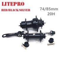 LITEPRO 74mm 85mm 20 Hole V Brake Hubs 14/16 inch Folding Bicycle FRONT REAR HUBSET 9T Freewheel Black/Silver/Red