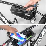 WILD MAN 1.2L Hard Bicycle Bags MTB Bike Mobile Phone Case Cycle Frame Front Head Top Tube Triangle Pouch Cycling Bag Accessory