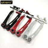 Litepro Folding Bike V Brake Caliper 110mm Long Arm Brake Extend Adapter Ultralight Hollow Aluminum Alloy Brake Lever Cage